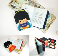 Korea Traditional Passport Case Ticket Boarding Pass Holder Card Travel ... - $9.99