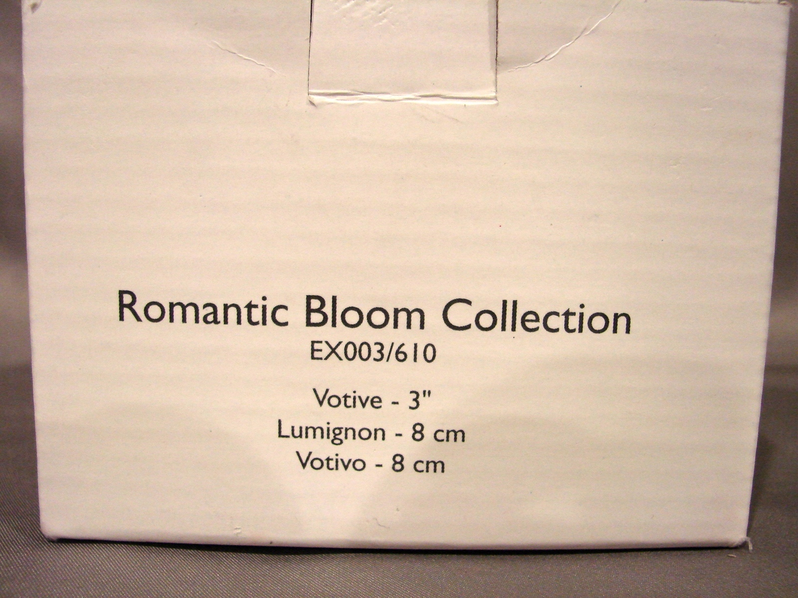 "Celebrations by Mikasa Romantic Bloom Collection 3 "" Crystal Votive Holder NIB image 3"
