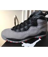Neuf Nike Air Jordan 10 X Rétro Gris Cool Infrarouge Noir GS Jeunesse Ta... - $147.76