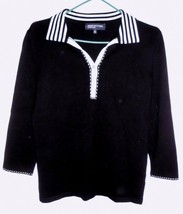 JONES NEW YORK Shirt SMALL Women Polo-Style Pullover Cotton Blend Knit T... - $15.83