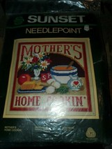 """Sunset Needlepoint Kit [6794] Mother's Home Cookin' [12""""x12""""] New in Package  - $24.70"""