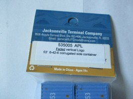 Jacksonville Terminal Company # 535005 APL Faded Vertical Logo 53' Container image 2