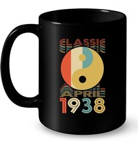 Classic Yin Yang Retro April 1938 80th Birthday Gifts 80 yrs Gift Coffee... - $13.99+