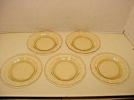 Fostoria Fairfax Bread Plates Yellow TOPAZ set of 5 EUC - $17.82