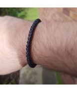 Fair Trade Black Cotton Knotted Thai Buddhist Wristband Handcrafted Wris... - $6.32
