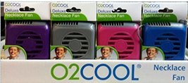 O2COOL Deluxe Portable Personal Battery Operated Necklace Fans (4 Pack)