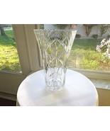 "Full Crystal 11"" Trumpet Style Centerpiece Vase - $23.76"