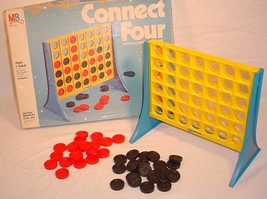 1979 MILTON BRADLEY GAME CONNECT FOUR VERTICAL CHECKERS GAME MADE IN THE... - $27.71