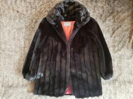 Vintage 1970's Jordache Faux Fur Coat Brown  Women Size 7/8 Small - $34.64
