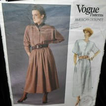 Vogue 1821 Misses Womens 6-10 Ralph Lauren dress button front loose fitt... - $7.91