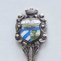 Collector Souvenir Spoon Cuba Coat of Arms Porcelain Enamel Emblem - $14.99