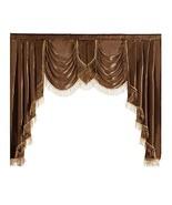 NAPEARL Polyester Thin Satin Curtain Valance Window Decoration Brown, 1 ... - $28.94