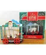 1991 Hallmark Keepsake Polar Circus Wagon Ornament Bear New in Box Linda... - $6.88