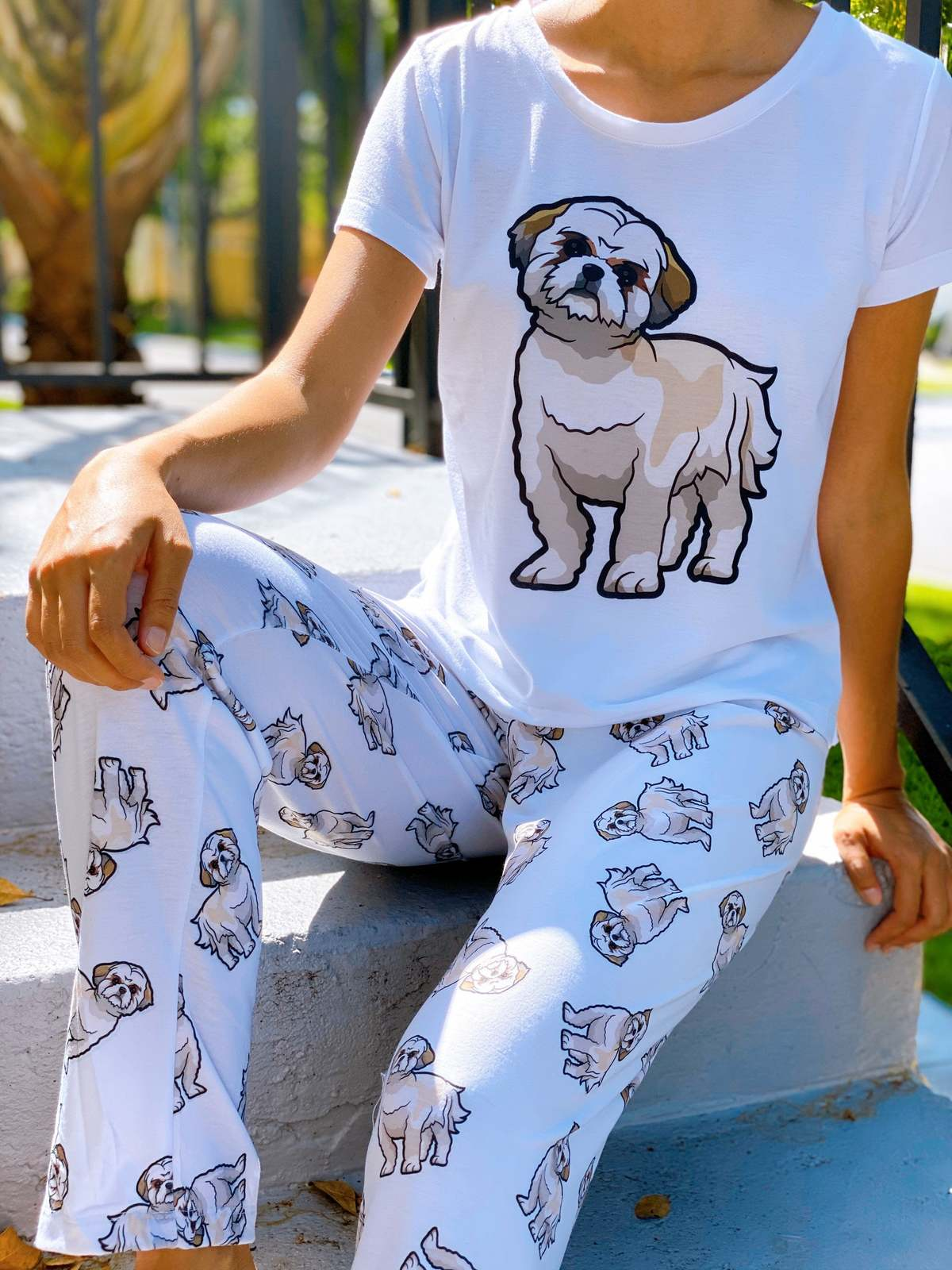 Primary image for Dog Shih tzu pajama set with pants for women Shihtzu