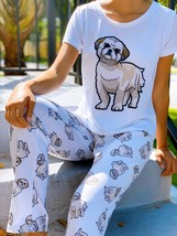 Dog Shih tzu pajama set with pants for women Shihtzu - $35.00