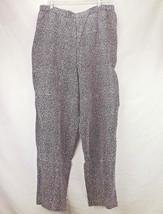 Womens Pants Wide Taper Leg  Size L Honors Pull... - $18.38