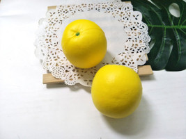 1pc Jumbo Squishy Lemon  Fruit Squishy Squishies Soft Foam Food Toy Decoration - $2.19