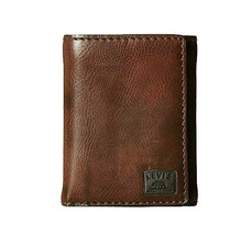 Levi's Men's Extra Capacity Credit Card ID Trifold Brown Wallet 31LV110002 image 2