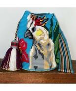 Authentic 100% Wayuu Mochila Colombian Bag Large Size Cockatoo Bird summ... - $150.00