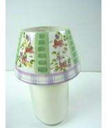 HOME INTERIORS Beautiful Floral Candle Topper Shade NEW with TAG Candle ... - $11.29
