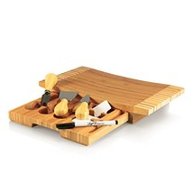 TOSCANA - a Picnic Time Brand Concavo Bamboo Cheese Board and Cheese Too... - $41.48
