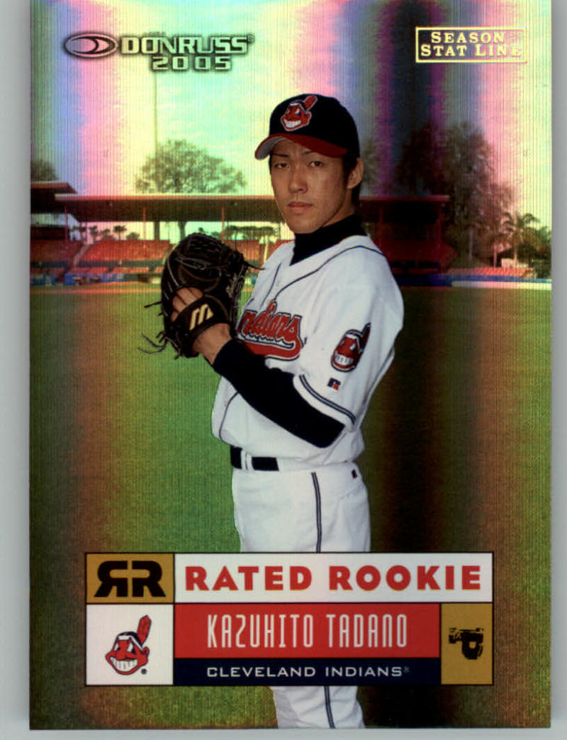 Primary image for 2005 Donruss Stat Line Season #34 Kazuhito Tadano 27/39 Cleveland Indians