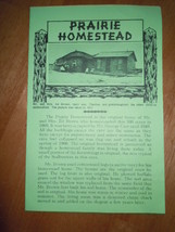 Prairie Homestead Brochure South Dakota - $3.99
