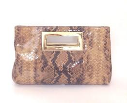 Michael Kors Berkley Clutch Tasche Farbe Sand Python Geprägtes Leder - $135.00