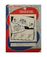 Especially for Pillow Slips Aunt Marthas 3265 Vintage Hot Iron Transfer ... - $7.99