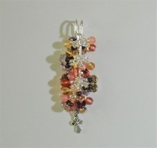 religious Brooch glass Women's handmade Safety pin brooch with meaning Kilt pin - $15.00