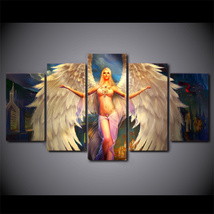 5 Pcs Anime Angel Girl Home Decor Wall Picture Printed Canvas Painting - $45.99+