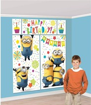 DESPICABLE ME Scene Setter Happy Birthday Party Wall Decoration Backdrop... - $12.82