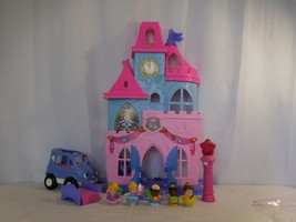 Fisher-Price Little People Disney Princess Magical Wand Palace + Car + P... - $37.63