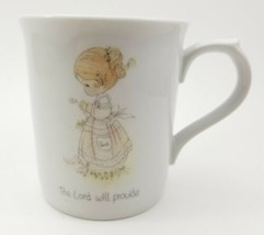 """Vintage 1985 Precious Moments """"THE LORD WILL PROVIDE Porcelain Mug Cup E... - $13.57"""