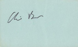Clive Barnes Signed 3x5 Index Card New York Times - $19.52