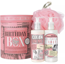 Soap & Glory The Birthday Box Gift Set with Full Size Shower Gel , Lotio... - $11.39