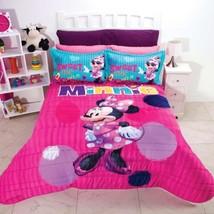Sweet Minnie Girls Disney Original Lisenced Comforter Set 2 Pcs Twin Size - $128.70