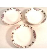 3 VINTAGE SMALL HOMER LAUGHLIN PORCELAIN BOWLS DESSERT FRUIT - $9.95