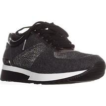 MICHAEL Michael Kors Women's Allie Trainer Sneakers, Charcoal, 6 B(M) US