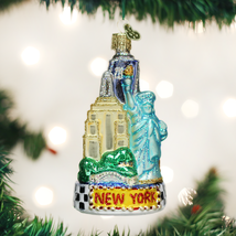 Old World Christmas New York City The Big Apple Glass Christmas Ornament 20083 - $16.88
