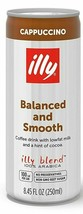 Illy Coffee Cappuccino Balanced & Smooth Coffee Drink 8.45 oz (Pack of 12) - $39.59