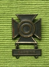 Vtg Us Army Carbine Rifle Maltese Cross Wwii Medal Military Pin Sterling Silver - $19.79