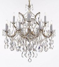Made with Swarovski Crystal Maria Theresa Chandelier Lights Fixture Pendant Ceil - $585.31