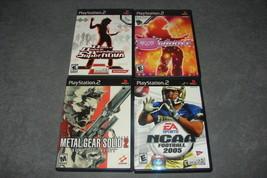 Playstation 2 PS2: 4 Game Lot - Metal Gear Solid 2 + DDR SuperNova + NCA... - $15.00