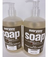 2 Everyone For Everybody Soap Shampoo Body Wash Bubble Bath Unscented 16... - $34.60