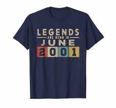 Brother Shirts - Legends Born In JUNE 2001 Aged 17 Years Old Being Aweso... - $19.95+