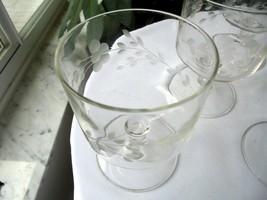 "Set of 4 Princess House Heritage Pattern Sherbet Glasses 4 1/4"" Tall  - $14.85"