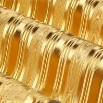 beibehang KTV box hotel bar cafe modern vertical stripes golden yellow gold - $79.95