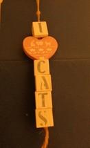 """""""I Love Cats""""  Wooden Door Knob Hanger cat heart  painted - $10.43"""