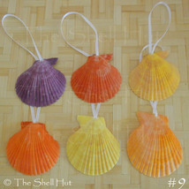 Seashell Scallops Christmas Ornaments Shell Natural Beach House Mermaid ... - $8.99